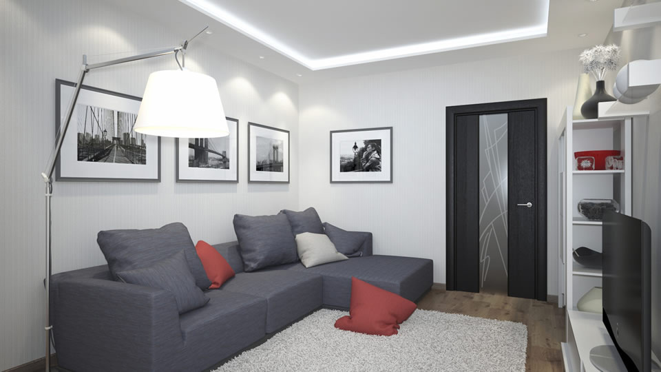 Интерьер с дверями цвета венге дизайн